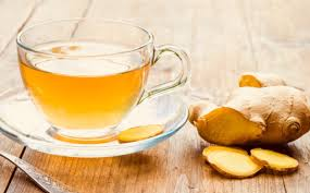 ginger tea or water aids reduction of weight.